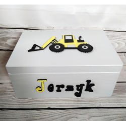 Pudełko dla dziecka - koparka