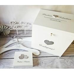 Zestaw ślubny srebrny