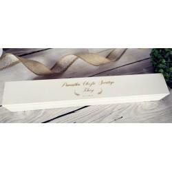 Białe pudełko na świecę,...
