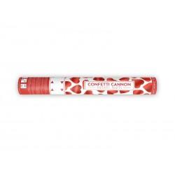 Tuba z sercami, czerwony, 40cm