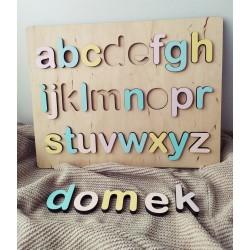 Układanka alfabet małe litery