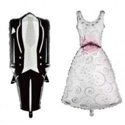 Balon suknia ślubna, garnitur