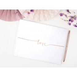 Księga gości Love Różowe Złoto