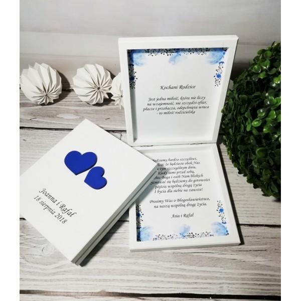 Pudełko Dla Rodziców Z Prośbą O Błogosławieństwo Chabroweniebieskie