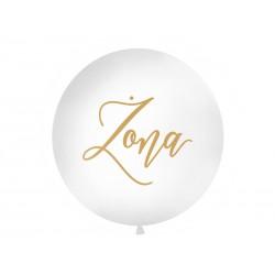 Balon olbrzym 1 m - żona złoty