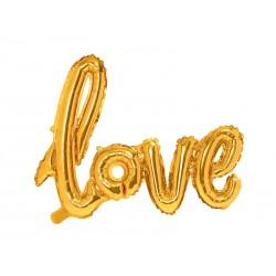 Balon foliowy Love złoty