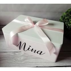 Pudełko z imieniem różowe